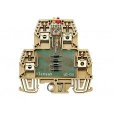 110390, Клеммник 2-х ярусный с электронными компонентами (пустой); WG-EKI (упак 20 шт)