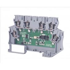 110410N, Клеммник 2-х ярусный с электронными компонентами (схема 21, 24V ); WG-EKI-С (упак 20 шт)