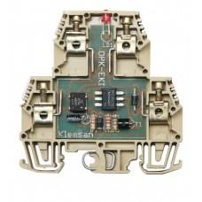 112220, Модуль опторазвязки на DIN-рейку, 24V AC-DC; OPT-EKI (упак 20 шт)