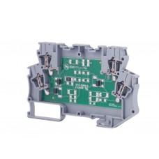 112620N, Модуль опторазвязки на DIN-рейку, 220V AC-DC; OPT-EKI-C (упак 1 шт)