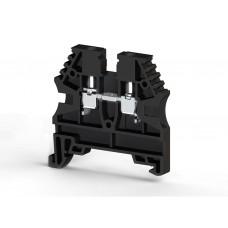 304125, Клеммник на DIN-рейку 2,5мм.кв. (черный); AVK2,5 (упак 100 шт)
