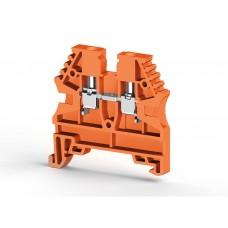 304127, Клеммник на DIN-рейку 2,5мм.кв. (оранжевый); AVK2,5 (упак 100 шт)