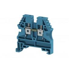 304131, Клеммник на DIN-рейку 4мм.кв. (синий); AVK4 (упак 100 шт)