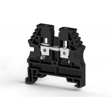 304135, Клеммник на DIN-рейку 4мм.кв. (черный); AVK4 (упак 100 шт)