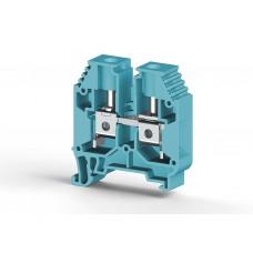 304161, Клеммник на DIN-рейку 16мм.кв. (Синий); AVK16 (упак 50 шт)