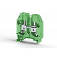 304162, Клеммник на DIN-рейку 16мм.кв. (Зеленый); AVK16 (упак 50 шт)