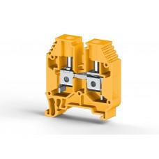 304163, Клеммник на DIN-рейку 16мм.кв. (Желтый); AVK16 (упак 50 шт)