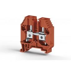 304164, Клеммник на DIN-рейку 16мм.кв. (Красный); AVK16 (упак 50 шт)