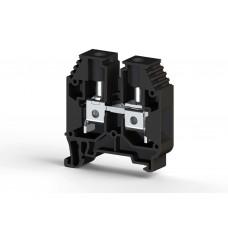 304165, Клеммник на DIN-рейку 16мм.кв. (Черный); AVK16 (упак 50 шт)