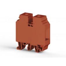 304174, Клеммник на DIN-рейку 35мм.кв. (Красный); AVK35 (упак 50 шт)