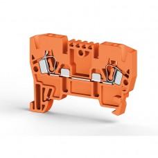 306227, Клеммник пружинный 2,5мм.кв. (оранжевый); YBK2,5  (упак 100 шт)