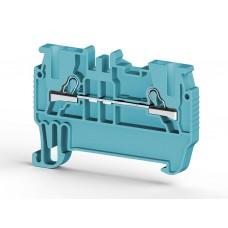 307011, PYK 1,5M; Клеммник пружинный быстрозажимной (Push in), 1,5мм.кв. (синий) (упак 100 шт)