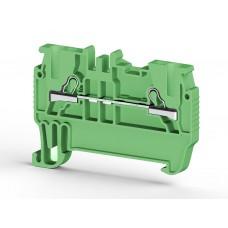 307012, PYK 1,5M ; Клеммник пружинный быстрозажимной (Push in), 1,5мм.кв. (зеленый) (упак 100 шт)