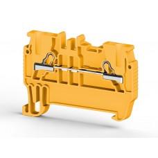307013, PYK 1,5M ; Клеммник пружинный быстрозажимной (Push in), 1,5мм.кв. (желтый) (упак 100 шт)