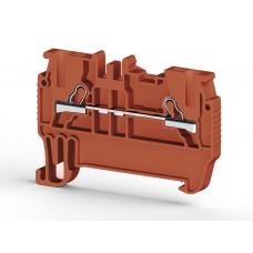 307014, PYK 1,5M ; Клеммник пружинный быстрозажимной (Push in), 1,5мм.кв. (красный) (упак 100 шт)