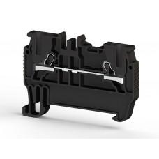 307015, PYK 1,5M ; Клеммник пружинный быстрозажимной (Push in), 1,5мм.кв. (черный) (упак 100 шт)