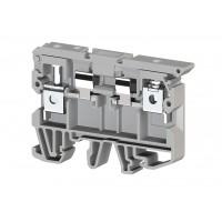 351109, Клеммник с держ. предохр. (5x20, 5x25) на DIN-рейку, 6 мм.кв. (серый); ASK 2S (упак 50 шт)