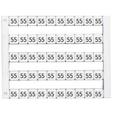 505040, Горизонтальная маркировка  (1...50),   DY5, 1 пластина - 50 шт. (упак 500 шт)