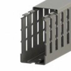 551015WS, KKC 4080; Перфорированный короб с крышкой, 40x80 (ШхВ) Широкий шаг перфорации  (упак 40м. )