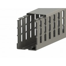 551017WS, KKC 6060; Перфорированный короб с крышкой; 60х60 (ШхВ). Широкий шаг перфорации (упак 24м. )