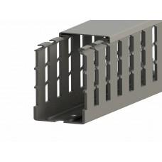 551019WS, KKC 8060; Перфорированный короб с крышкой; 80х60 (ШхВ). Широкий шаг перфорации (упак 28м. )