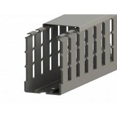 551020WS, KKC 8080; Перфорированный короб с крышкой, 80x80 (ШхВ) Широкий шаг перфорации  (упак 20м. )