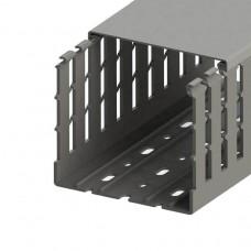 551021WS, KKC 1006; Перфорированный короб 100х60 (ШхВ). Широкий шаг перфорации (упак 20м. )