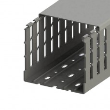 551022WS, KKC 1008; Перфорированный короб с крышкой, 100x80 (ШхВ) Широкий шаг перфорации (упак 16м. )
