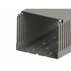 551024WS, KKC 1208; Перфорированный короб с крышкой; 120х80 (ШхВ).Широкий шаг перфорации  (упак 12м. )