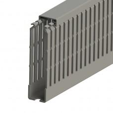 551031, KKC 2510; Перфорированный короб с крышкой, 25x100 (ШxB) Серый (упак 44м. )