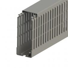 551032, KKC 4010; Перфорированный короб с крышкой; 40x100 (ШxB)  Серый (упак 28м. )