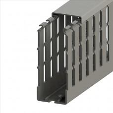 551032WS, KKC 4010; Перфорированный короб с крышкой; 40x100 (ШxB)  Серый Широкий шаг перфорации (упак 28м. )