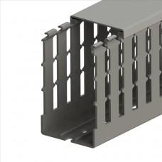 551033WS, KKC 6010; Перфорированный короб с крышкой; 60x100 (ШхВ) Серый Широкий шаг перфорации (упак 36м. )
