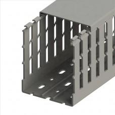 551035WS, KKC 8010; Перфорированный короб с крышкой; 80x100 (ШхВ) Широкий шаг перфорации (упак 24м. )