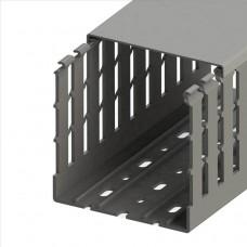 551036WS, KKC 1001; Перфорированный короб с крышкой; 100x100 (ШхВ); Широкий шаг перфорации (упак 24м. )
