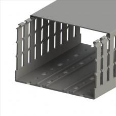 551040WS, KKC 1501; Перфорированный короб с крышкой; 150x100 (ШхВ); Широкий шаг перфорации (упак 16м. )