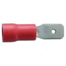 594012, Наконечн. изол. 0,5-1,5 мм.кв., плоский штифтовой, 6,4х0,8;  KFE-1638 (упак 100 шт)
