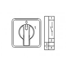 800000, CS010090S;  Двухпозиционные Переключатели Вкл-Выкл (0-1); 1 FAZ 10 A 60° (упак 1 шт)