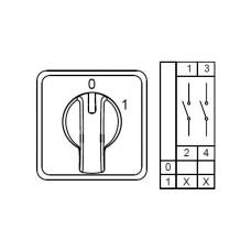 800010, CS010091S; Двухпозиционные Переключатели Вкл-Выкл (0-1); 2 FAZ 10 A 60° (упак 1 шт)